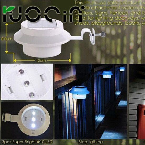 Hot Low Cost Energy Saving Outdoor Waterproof Ip 55 Solar Garden Fence Light Warm White Color Ce Rohs Certification In Wall Lamps From Lights