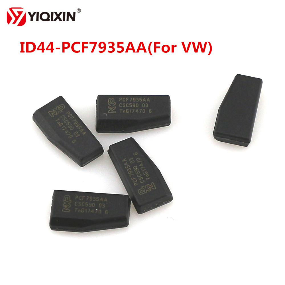 YIQIXIN 10Pcs/lot Remote Car Key Chip Transponder Chip ID44 PCF7935AA For VW Volkswagen Coded ID44 Carbon Chip New Product