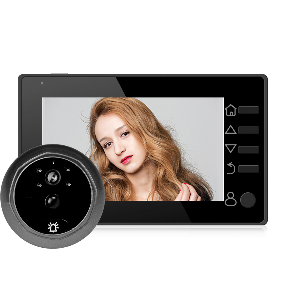 Q10 Doorbell 4.3 Inch LCD Digital Electronic Door Peephole Viewer Camera 145 Degree IR Night Vision Support Motion Detection