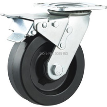 1 PCS 5 inch Heavy Duty High Temperature Resistance Caster Wheels Truckle Locking Wheel