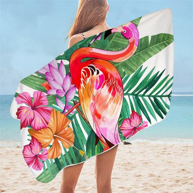 BeddingOutlet Floral Bath Towel Bathroom Tropical Plants Microfiber Beach Towel Leaf Pineapple Shower Towel Toucan toalla playa 2