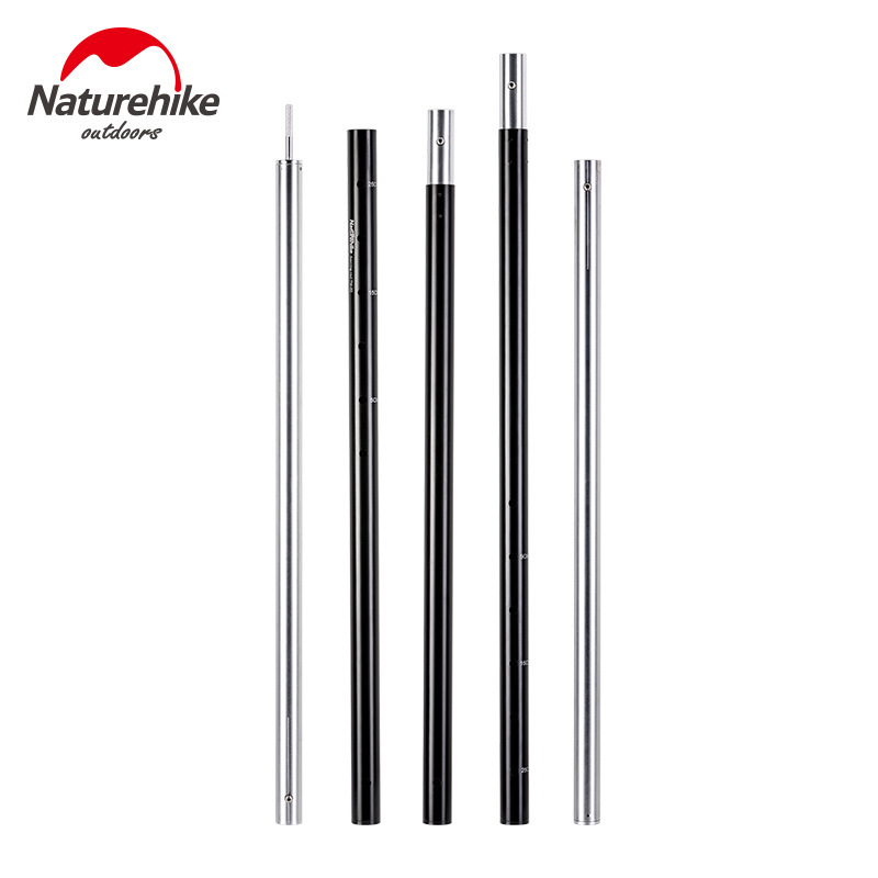 Naturehike Professional 6061 Five Section Solid Aluminum Alloy Sky Curtain Rod Thickening Support Rod Outdoor Support
