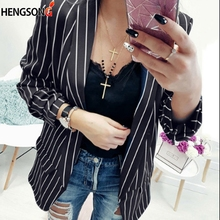 amyenjoylife AEL Velvet Women Suit Coat Graceful Slim Street Black Elegant Clothing