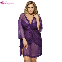 DangYan plus size lingerie erotica pigiami per adulti pizzo prospettiva 3 Pz pigiameria costumi sexy erotic dress robe lingerie