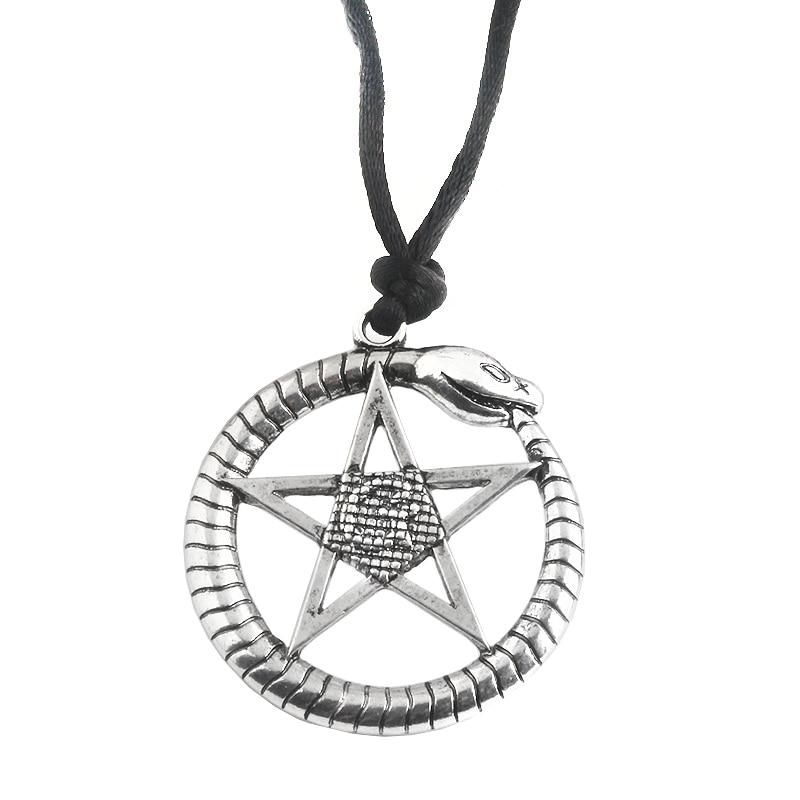 Rongji jewelry Movie Supernatural Snake Pentacle Guardian Necklace Pendant viking punk jewelry