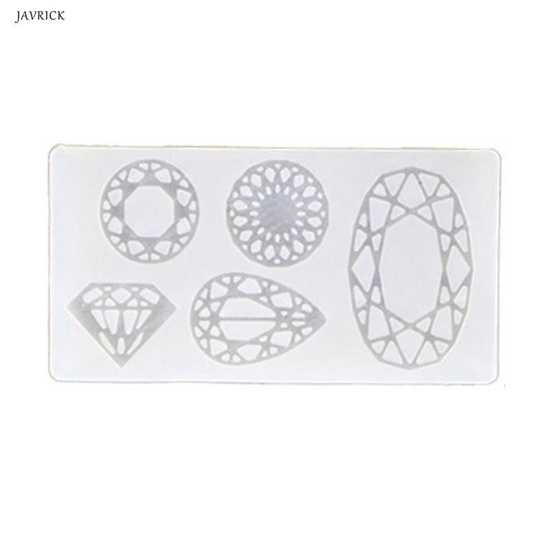 Epoxy Resin Mold Diamond Frame UV Mold Resin Casting Pendant Earrings DIY Jewelry Tools