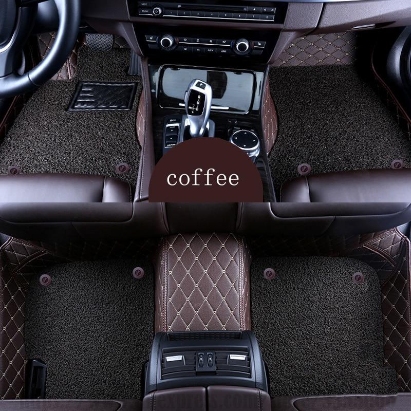 XWSN custom car floor mat for Volkswagen All Models vw passat b5 6 polo golf tiguan jetta touran touareg Car carpet car mat