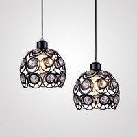 Modern Crystal Pendant Lights Creative Lamps For Coffee Bar Restaurant Light E27 Hanging Lamp Decor Luminaire