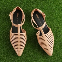 High quality Melissa Womens shoes Summer Sandals Gladiator Studded Flat  Women Hollow Shoes Woman