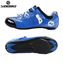 SIDEBIKE Cycling Road Bikes Shoes Mens Adjustable Lightweight Sapatilha Ciclismo Zapatillas Self-locking Ride Bike Bicycle Shoes