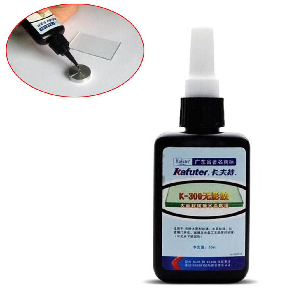 50ML K-300 UV Glue Curing Adhesive Transparent Crystal Glass Bonding Dedicated Repair Liquid Glue --M25 kafuter 50ml uv glue uv curing adhesive k 300 transparent crystal and glass adhesive