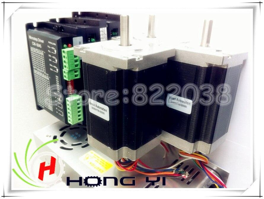 CNC STEPPER MOTOR ,CNC Router & Mill nema 34 stepper 12Nm 1700oz.in x 3 + micsteps driver 80vdc 6A x3 + power suply x3