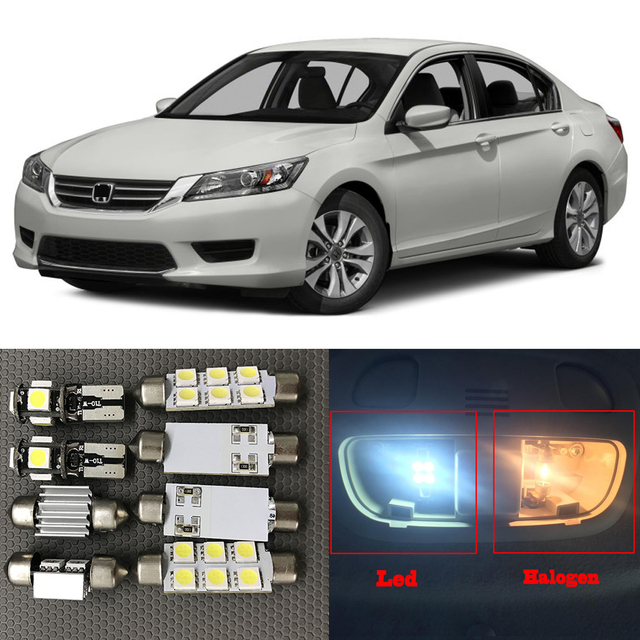 10 pcs xenon blanc led ampoules intrieur kit demballage pour 2013 2014 2015 honda