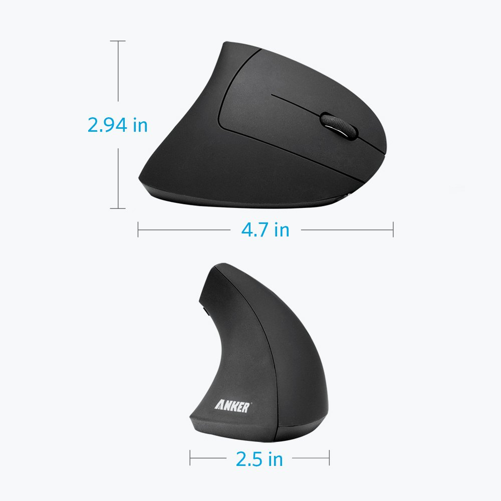 2 4G Wireless Vertical Ergonomic Design Optical Mouse 800 1200 1600 DPI 5 Buttons for Laptop Desktop PC Macbook Black in Mice from Computer Office
