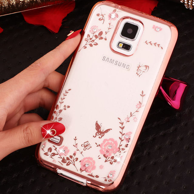 more photos fb783 2cb54 US $1.99 |S5 i9600 Bling Diamond Case Fashion Glitter Rhinestone TPU Soft  Phone Cover For Samsung Galaxy S5 Case Rose Gold Pink SV S V 5-in Fitted ...