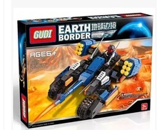 GUDI 8214 Earth Border Blazing Extreme Minifigure Building Block 223Pcs Bricks Toys Compatible with Legoe