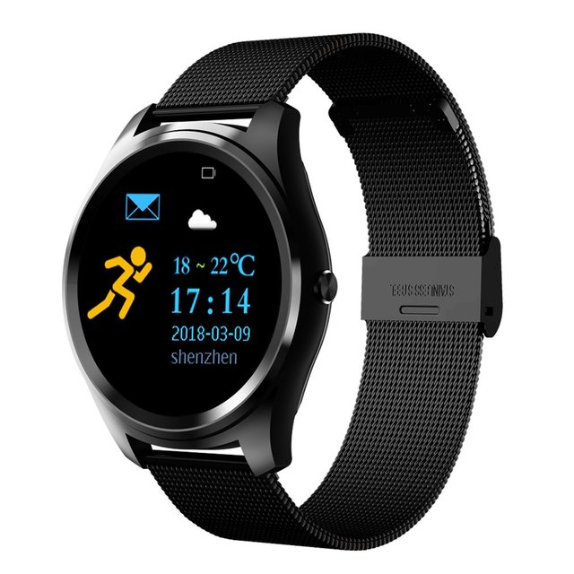0e0e6ed48 Z4/X8 Steel Band Smart Watch Heart Rate Monitor Bluetooth Call Waterproof  Fitness Pedometer Sports