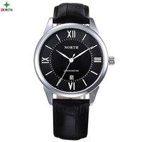 Men Watches Fashion Analog Wristwatch 30M Waterproof Clock Genuine Leather 2017 Round Quartz Military Casual Male