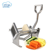 все цены на French Fries Manual Cutter Stainless Steel Potato Chips Making Vegetable Knives Fruit Slicer Potato Cutting Kitchen Tools онлайн