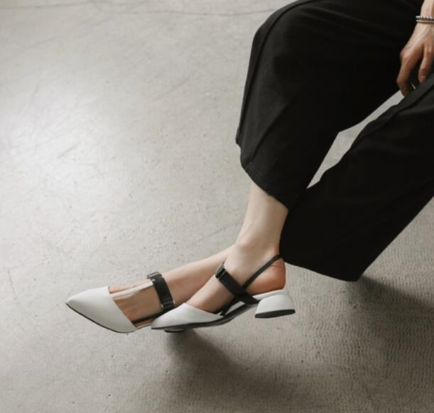 Spring/Autumn Elegant Casual Solid White Woman Shoes T-tied Pointed Toe Buckle Strap Thin High Heels Women Pump Free Ship Size 9 spring autumn shoes woman pointed toe metal buckle shallow 11 plus size thick heels shoes sexy career super high heel shoes