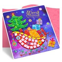 N162 Kindergarten handmade Di Natale per bambini FAI DA TE adesivi mosaico creativo tre-dimensionale pasta