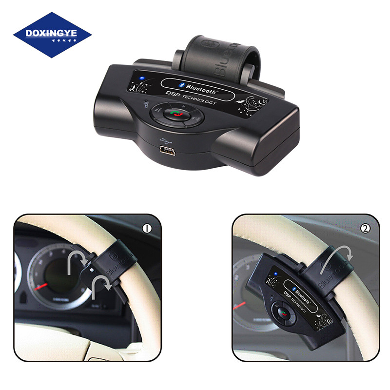 doxingye wireless bluetooth steering wheel car kit handsfree speaker mp3 music player for cell. Black Bedroom Furniture Sets. Home Design Ideas