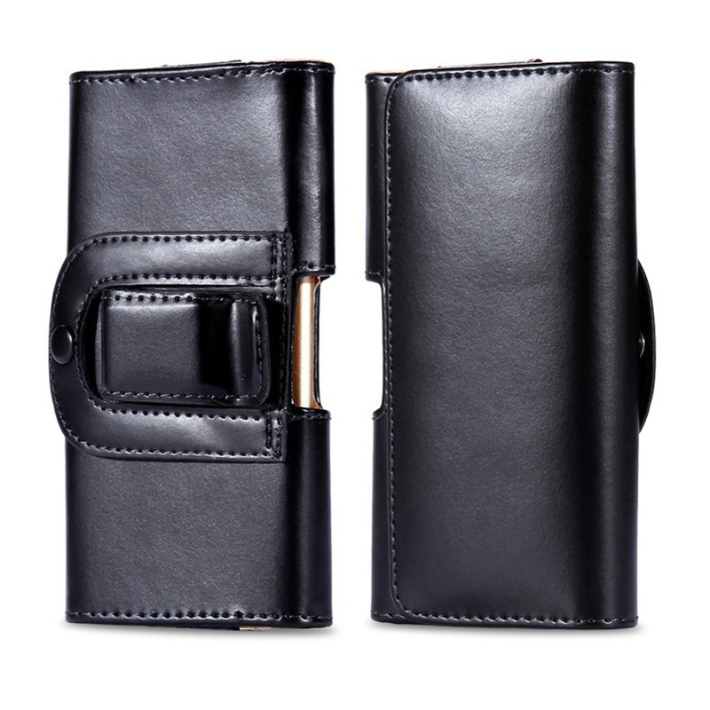 Luxury Pu Leather Men Waist Bag Clip Belt Pouch Mobile Phone Holster Case Cover For Cubot X9 5 inch Universal Protective Cases