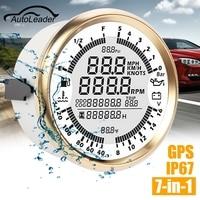 Autoleader 85mm GPS Speedometer Oil Pressure Gauge Fuel Gauge Tachometer Speed Boat Car DIY Speedometers