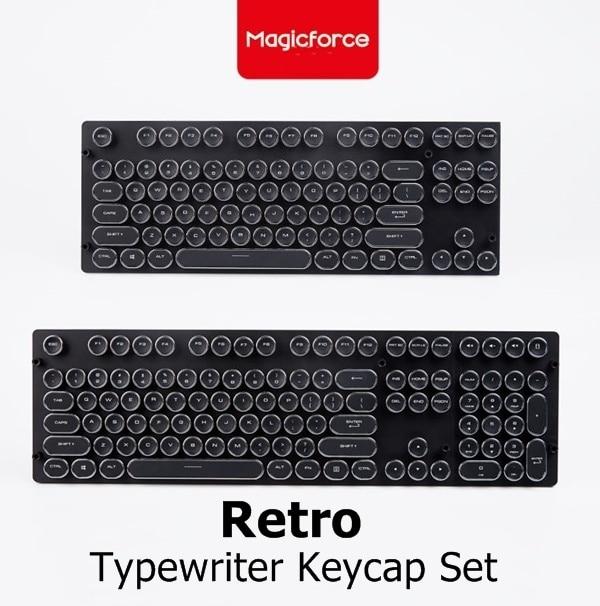 Magicforce Retro Typewriter ABS Keycap Set 87/108 Keycaps For MX Switches Mechanical Keyboard
