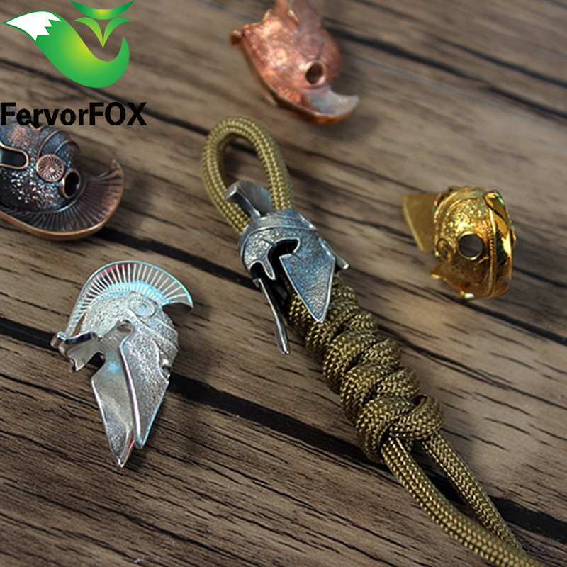 Spartan Paracord Beads Metal Charms For Paracord Bracelet Accessories Survival,DIY Pendant Buckle For Paracord Knife Lanyards