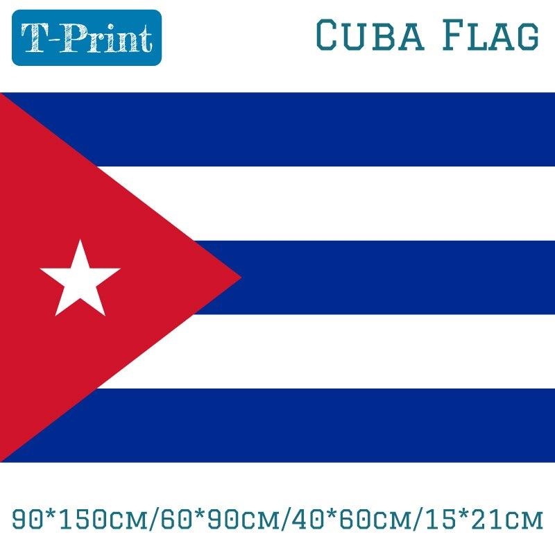 275659bb8 90*150 cm/60*90 cm/40*60 cm/15*21 cm 3x5FT poliéster Cuba Bandera de ...