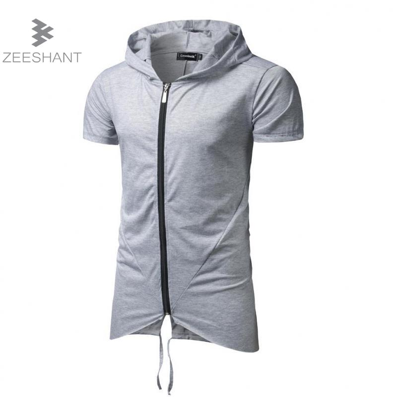 Popular Short Sleeve Zip Hoodie-Buy Cheap Short Sleeve Zip Hoodie ...