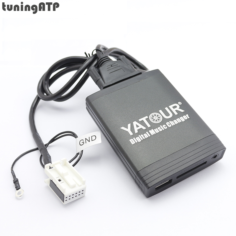 YATOUR Digital Music Changer AUX SD USB Interfaz de MP3 para Audi Concert II + Chorus II + Symphony II + RNS-E