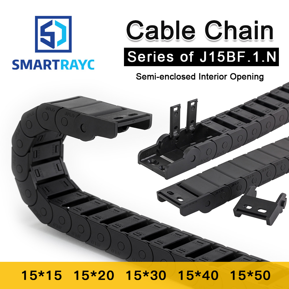 Smartrayc Cable Chain Semi-Enclosed Interior Opening 15x15 15x20 15x30 Drag Plastic Towline Transmission Machine Accessories цены