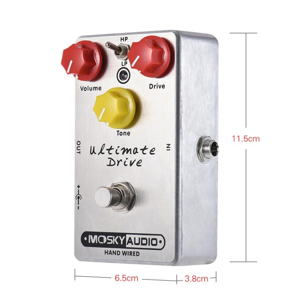 Высокое качество Mosky Ultra Drive искажения гитары педаль эффектов 3 режима True Bypass металлический корпус дропшиппинг бесплатная доставка