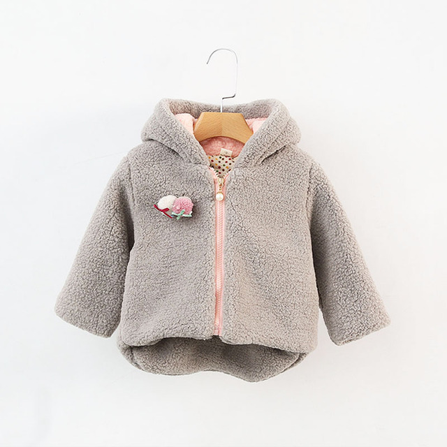 1PC Girl Hoodies New 2016 Baby Coat Autumn/winter Clothing Newborn Baby Boy Girl Clothes Thick Tops Kids Outerwear
