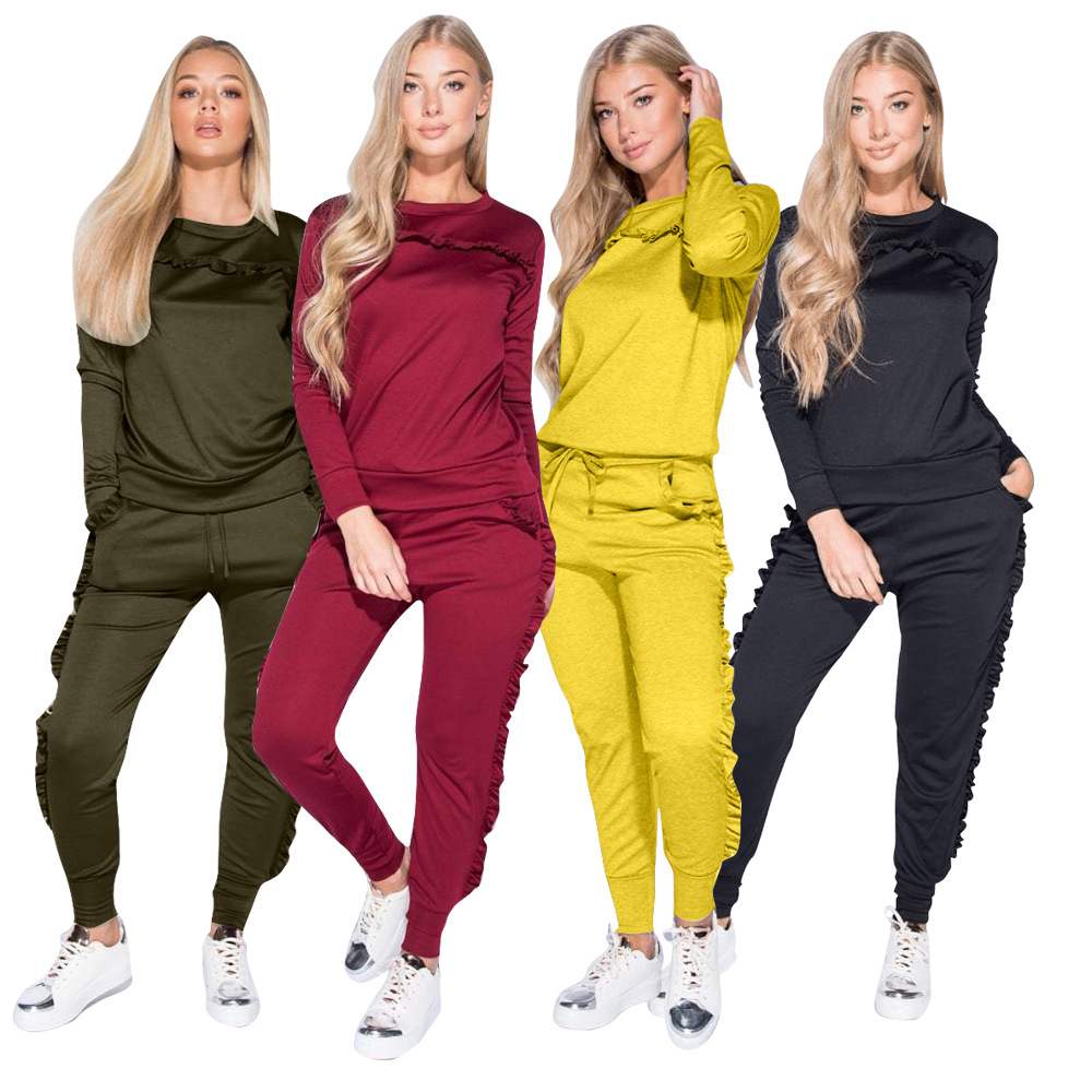 NEW Women 2018 Two Piece Set Spring Sportswear Sweat Suits Track Suit Woman 2 Piece Set Top + Pants Trainingspak Vrouwen