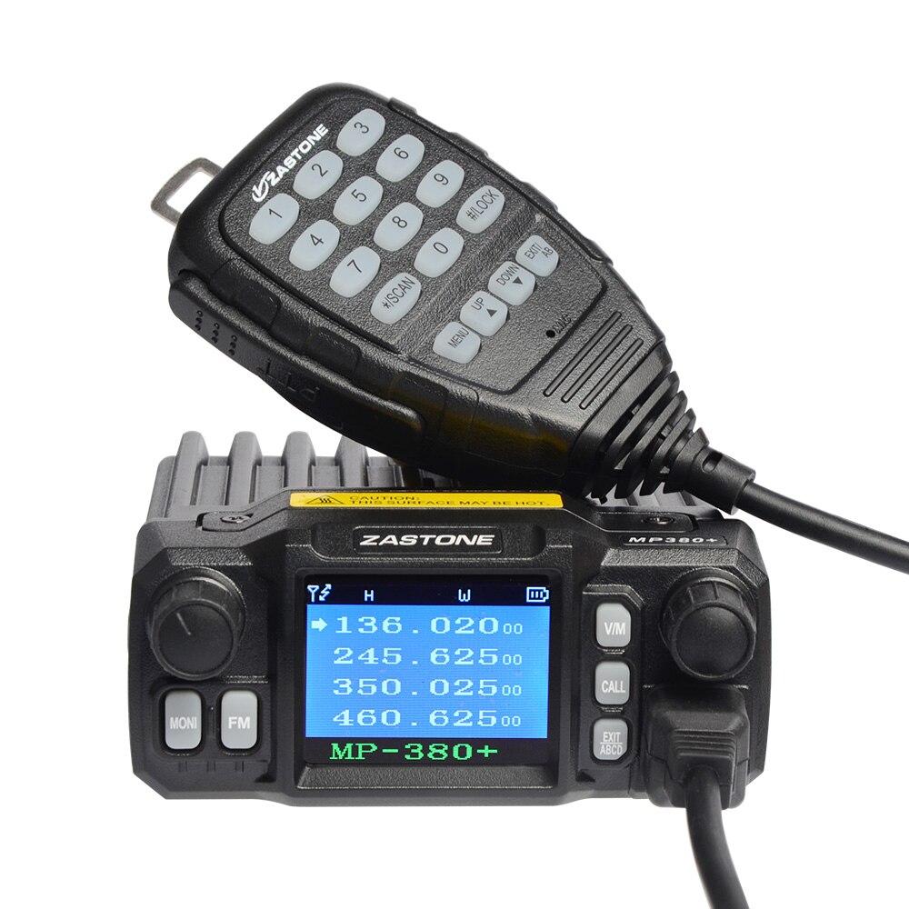 imágenes para Zastone ZT-MP380 + Estación de Radio Mini Coche Estación de Banda Cuádruple Móvil VHF/UHF 25 W/20 W Coche transceptor CB Ham Radio Walkie Talkie