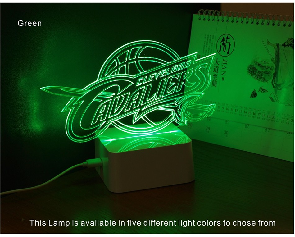 USB Novel Lamp NBA 3D LED Night Lights as Home Bedroom Decorative Besides Lampara for Cavalier Team (6)