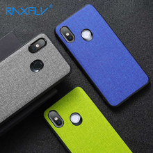 RAXFLY Business Cloth Case For Xiaomi Redmi Note 7 5 6 Pro Luxury TPU Phone Mi 9 8 Lite A1 A2 Fabric Back Cover