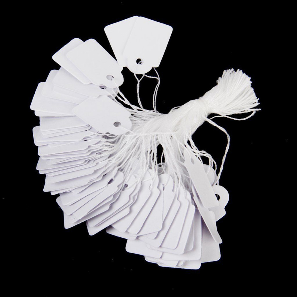 500pcs New Label Price Tags For String Tie Watch Jewelry Display Merchandise Ticket Tag 24*14mm