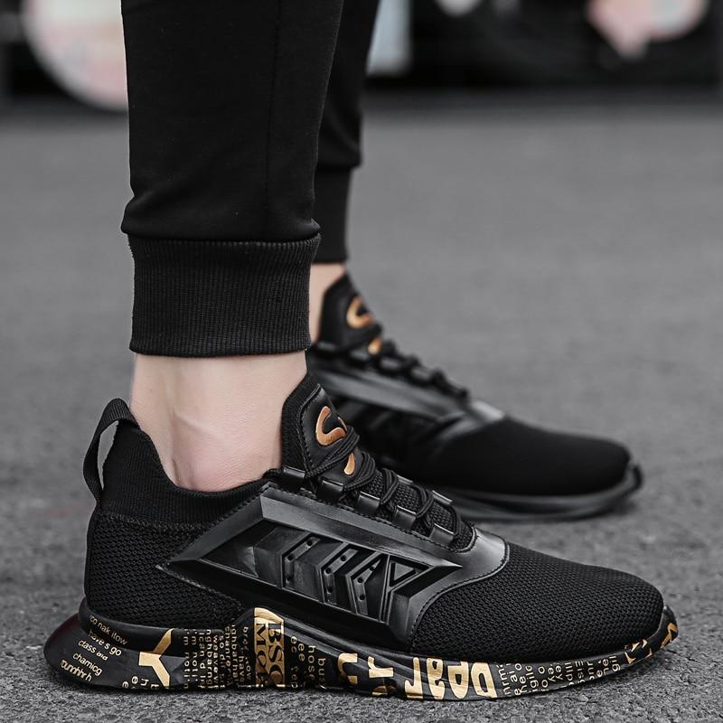 23bb0148e 2018 Nova Krasovki Homens Sapatos Casuais de Alta Qualidade de Malha  Masculina Esporte Sneakers Lace up Respirável Homem Tenis Calçados  Chaussure Homme em ...