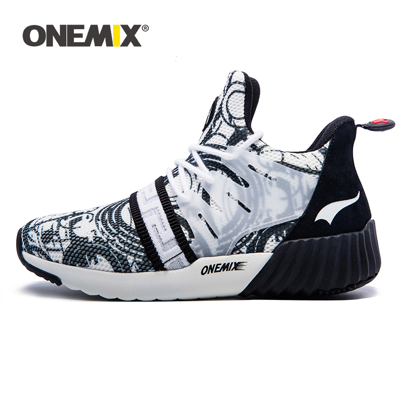 ONEMIX New Men Running Shoes Breathable Boy Sport Sneakers 2019 Unisex Athletic Shoes Increasing height Women Shoes Size 36-45