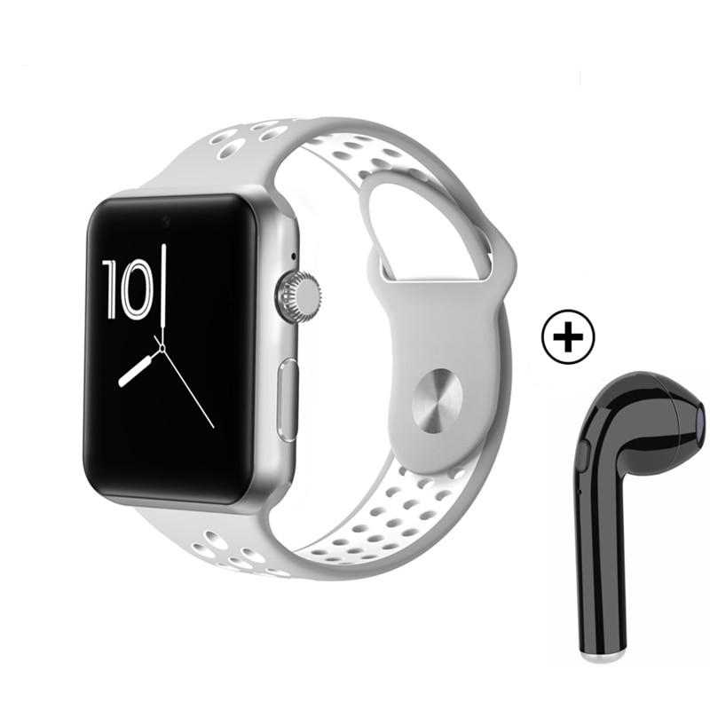Montres intelligentes bracelet de fitness MTK2502 avec fente pour carte sim téléphone intelligent sangle creuse bouton magique PK IWO 2 3 IWO 5 6 smartwatch