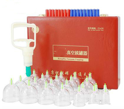 Boutique gift boxes cupping apparatus household vacuum thickening type C 24 cupping cans red suitcase extraction