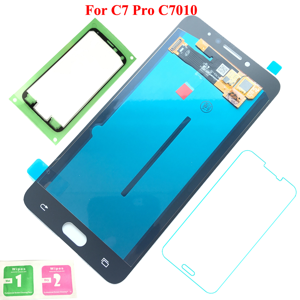 FIX2SAILING Display LCD 100% Working Super HD AMOLED LCD Display Touch Screen Assembly For Samsung Galaxy C7 Pro C7010 StickerFIX2SAILING Display LCD 100% Working Super HD AMOLED LCD Display Touch Screen Assembly For Samsung Galaxy C7 Pro C7010 Sticker