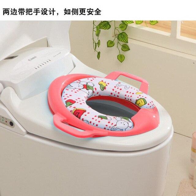 Random Color Baby Potty Portable Toilet Seat for Children Washable Non-slip Kid Potty Training Seat with Handle Children's Pot