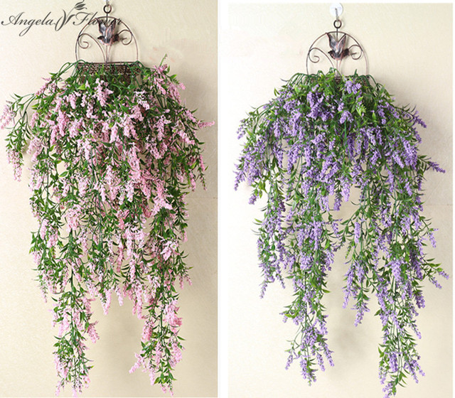 Aliexpress.com : Buy Artificial wall hanging fake flower ... on Hanging Wall Sconces For Flowers id=60635