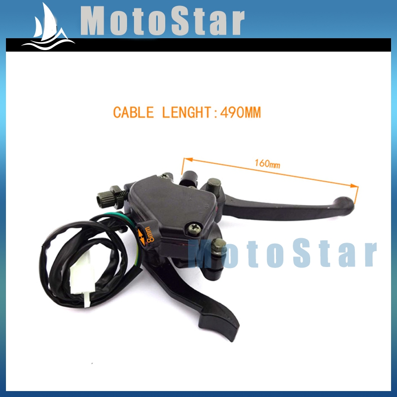 Back To Search Resultshome Double Brake Lever With Thumb Throttle Lever For Kazuma Falcon 110cc Atv Quad Parts Terrific Value