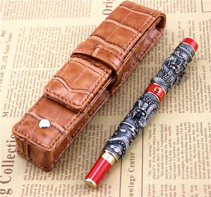 send a refill ballpoint Pen metal School Office supplies dragon roller ball pens high quality luxury business gift 007 jinhao ballpoint pen and pen bag school office stationery brand roller ball pens men women business gift send a refill 018
